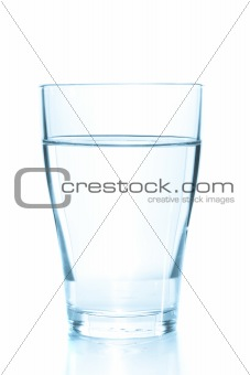 Clean glass of still water