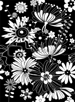 black floral background