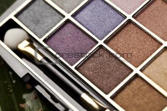 Palette of powder eyeshadows