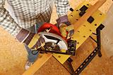 carpenter at work detail