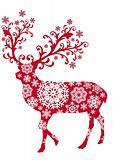 Xmas deer, vector