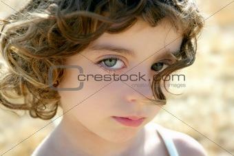 Beautiful little girl portrait outdoo