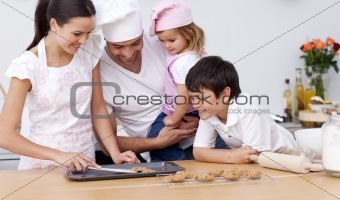 Family baking in the kitchen
