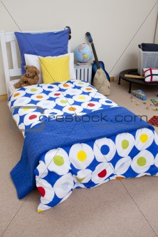A multi-color  bed
