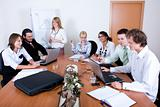Team of young business people at work