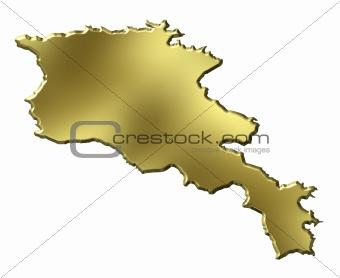 Armenia 3d Golden Map