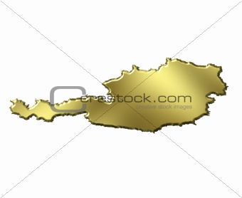 Austria 3d Golden Map