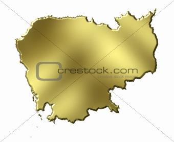 Cambodia 3d Golden Map