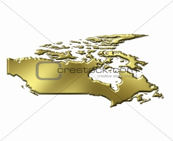 Canada 3d Golden Map