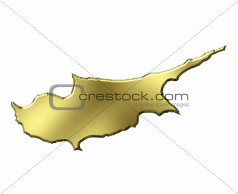 Cyprus 3d Golden Map