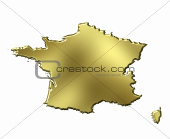 France 3d Golden Map