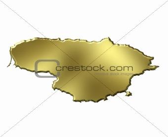 Lithuania 3d Golden Map