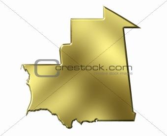 Mauritania 3d Golden Map