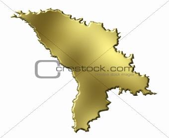 Moldova 3d Golden Map