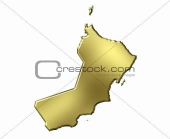 Oman 3d Golden Map