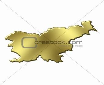 Slovenia 3d Golden Map