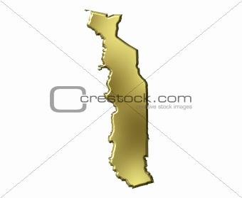 Togo 3d Golden Map
