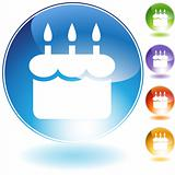 Birthday Cake Crystal Icon