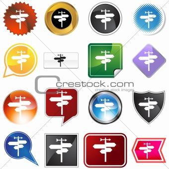 Crossroads Icon Set