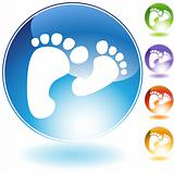 Footprint Walking Crystal Icon
