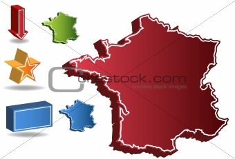 3D France Country Map