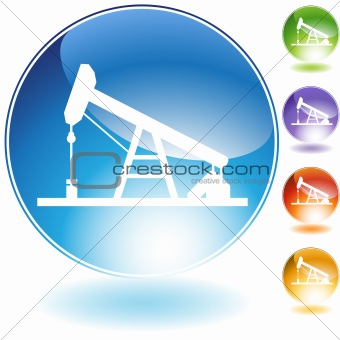 Oil Drill Crystal Icon