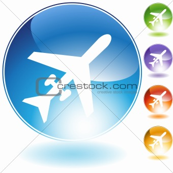 Airplane Crystal Icon