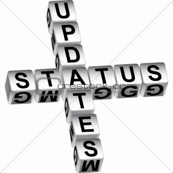 3D Status Update Dice Message