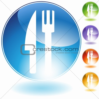 Fork Knife Crystal Icon