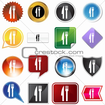 Fork Knife Variety Icon Set