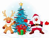 Santa Claus and Rudolph