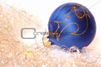 Christmas ball and a tinsel