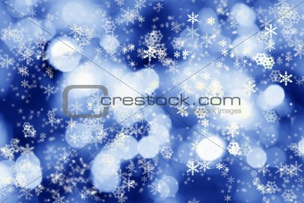 Winter lights background