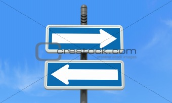 right or left directional signpost
