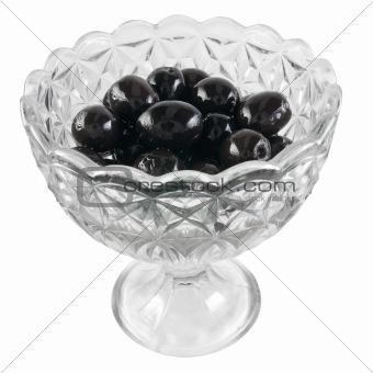 bowl of black olives