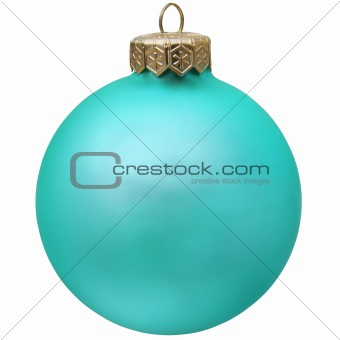 aquamarin  christmas ornament .