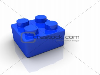 Blue building toy block
