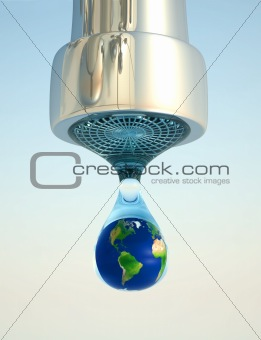 Earth in drop
