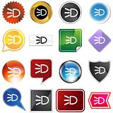 Headlight Icon Set
