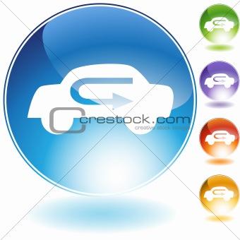 Air Recirculation Crystal Icon