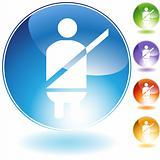 Seatbelt Alert Crystal Icon