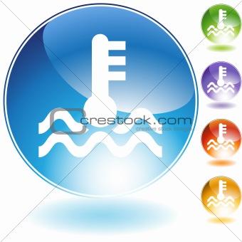 Water Temperature Crystal Icon