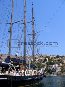Sailing vessel in the harbor