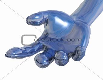 chrome metal hand