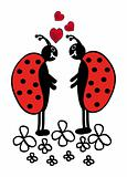 two ladybugs