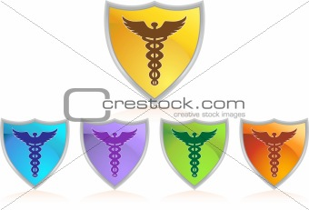 Caduceus Color Chrome Shield Set