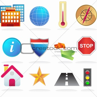 City Navigation Icons