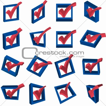 3D Voting Checkmarks