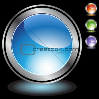 Chrome round buttons - blank