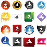 Crosswalk Icon Set